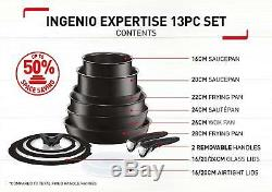 Tefal L6509042 Ingenio Expertise Non-Stick Induction Expertise Cookware Set, 13