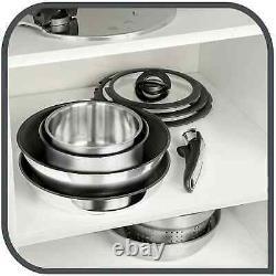Tefal L94096 Pan Set 15-tlg. Ingenio Preference Titanium Excellence +