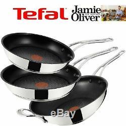Tefal Pan Set Frying Pan 24+ 26cm+ Wok 30cm Induction Wave Non Stick Induction