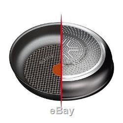 Tefal Preference Pro 5 Piece Black Induction Compatible Pan Saucepan Frypan Set