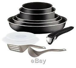 Tefal Set Pans and Pots Ingenio 5 Essential black Set 10 pieces