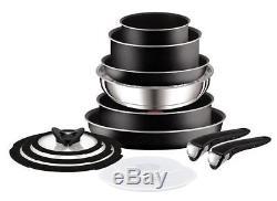 Tefal TEF-L2009142 Ingenio Essential Non-Stick 13 Pieces Saucepan Set Black