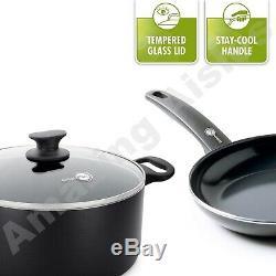 The Original Green Pan 5 Piece Cookware Set Cambridge Range Saucepans & Frypans