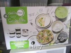 The Original Green Pan Non-Stick Sur La Table 10 Pc Set Thermolon Ceramic +Bonus