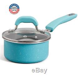 The Pioneer Woman Vintage Speckle 24 Piece Cookware Combo Pan Pot Set Turquoise