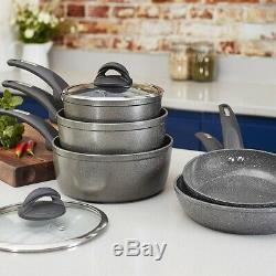 Tower Cerastone Forged Frying Pan Non Stick Set 5 Pcs Ceramic Cooking Induction