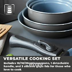Tower Freedom T800201, 7 Piece Cookware Set withDetachable Handle Brand New