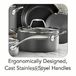 Tramontina 15 Piece Cookware Set Hard Anodized Nonstick Glass Lids Oven Safe