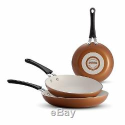 Tramontina Ceramic-Reinforced Nonstick Fry Pans, Set of 3