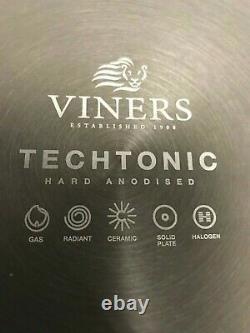 Viners Techtonic Hard Anodised Aluminium Ceramic Non Stick 5pc pan set RRP£130