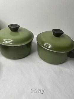 Vintage Club Aluminum Avocado Green Cookware Set Pan Pot Dutch Oven MCM Lot 15