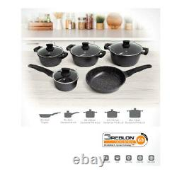 Westinghouse 5pc Non-Stick Cookware Pot & Pan Set withLid for Induction/Gas Top