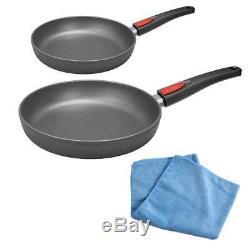 Woll Pan Set Nowo Titanium Frying Pan 24 cm + 28 cm + Microfibre Cloth Pan