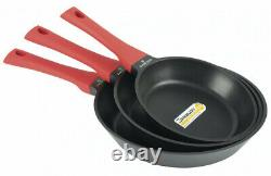 Zwieger Obsidian Set Of Pans 20, 24, 28 CM 3 Pcs Die-cast Aluminium Frying Pan
