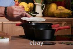 Zwieger Obsidian Set Of Pots And Pans 8 Pcs Cookware Die-cast Aluminium Stewpots